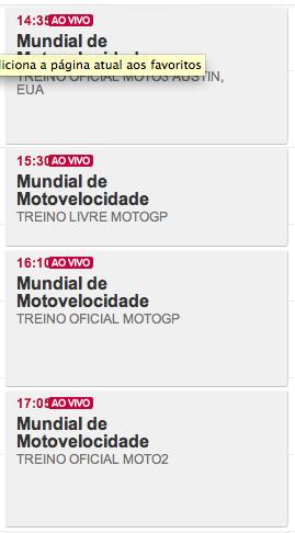 Horario MotoGP