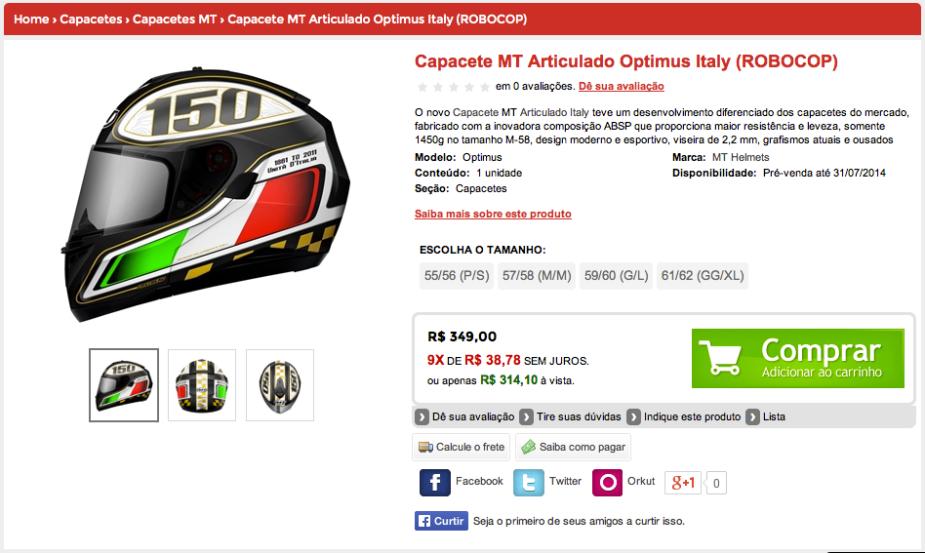 Comprar Capacete MT - Grid Motors