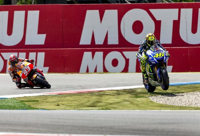 Valentino Rossi vs Marc Marquez na Holanda