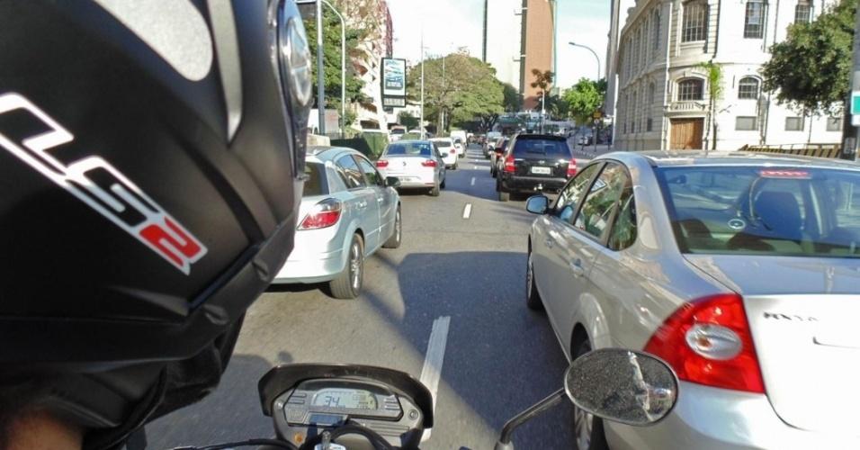 Andar de Moto no corredor com segurança