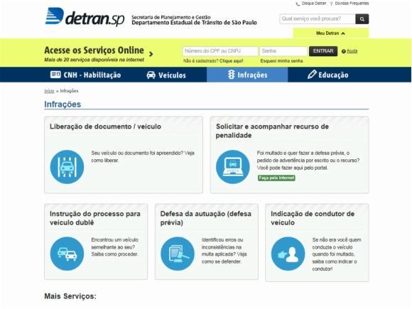 Detran.SP recebe recursos de multas on-line