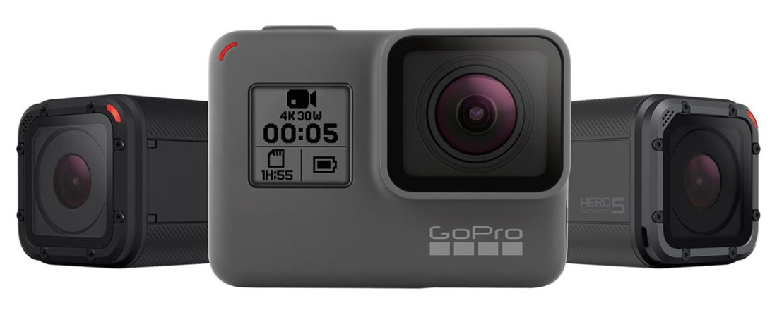 Câmeras GoPro Hero5 Black e Hero5 Session