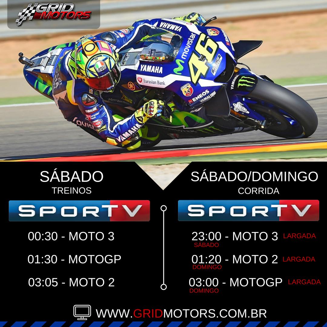 Horarios MotoGP Japão 2016 - SporTV