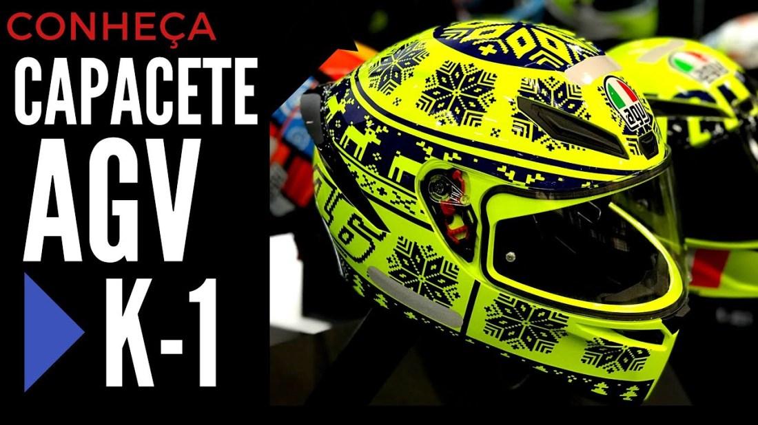 Novo Capacete AGV K1 Valentino Rossi 2018