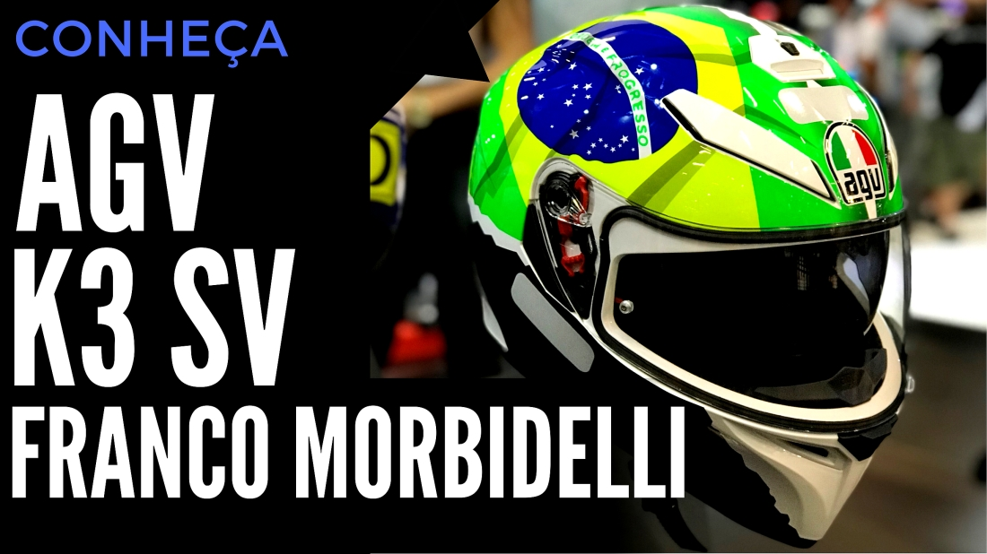 Novo Capacete AGV K3 SV Franco Morbidelli