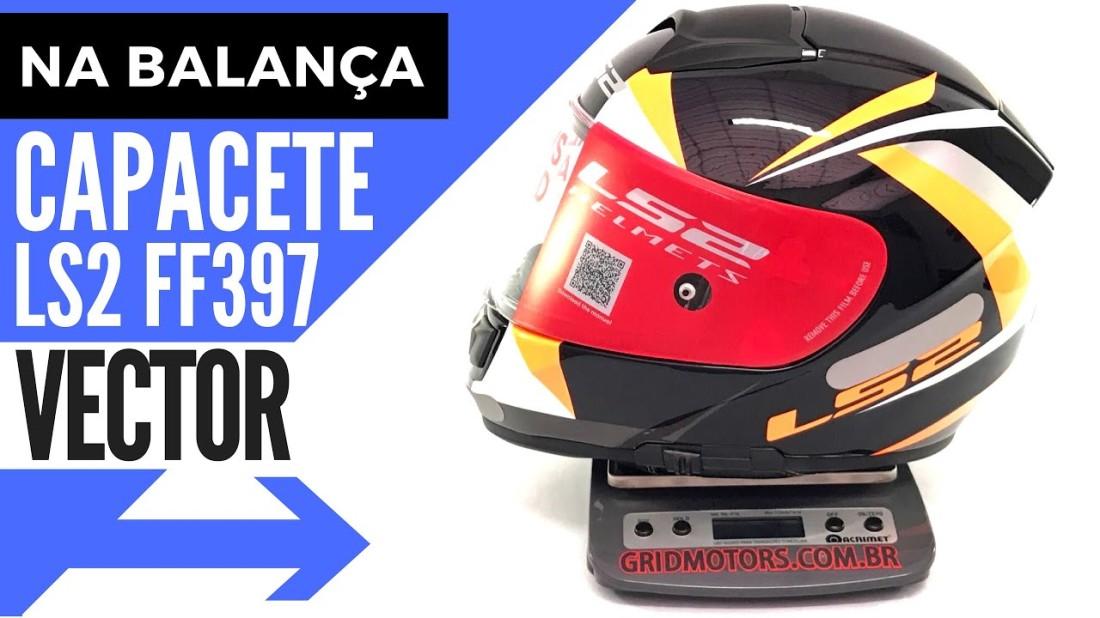 Peso Capacete LS2 FF397 Vector