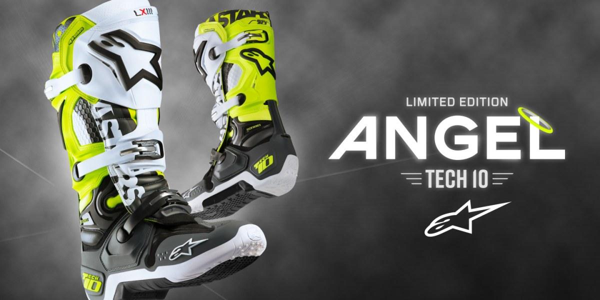 Nova Bota Alpinestars Tech 10 Angel Edição Limitada 2018