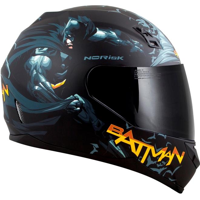 Capacete Norisk FF391 Batman Hero Preto - 2