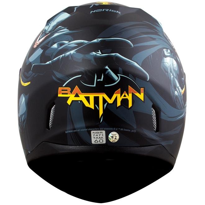 Capacete Norisk FF391 Batman Hero Preto - 5