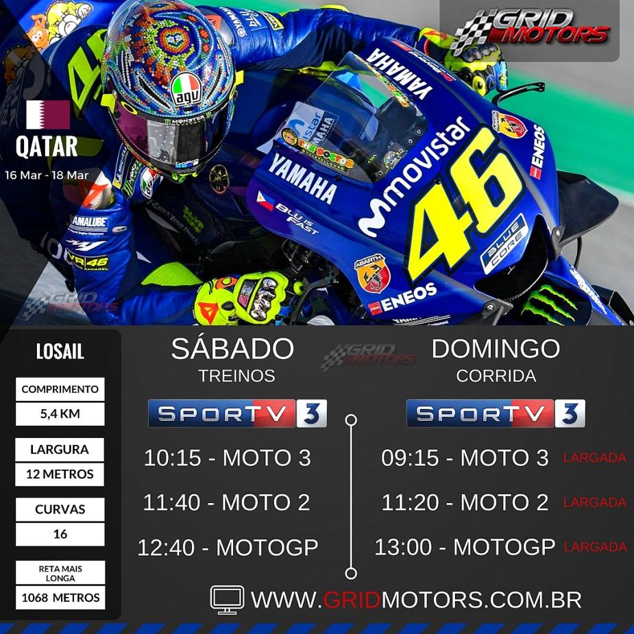 Horários MotoGP 2018 - Qatar