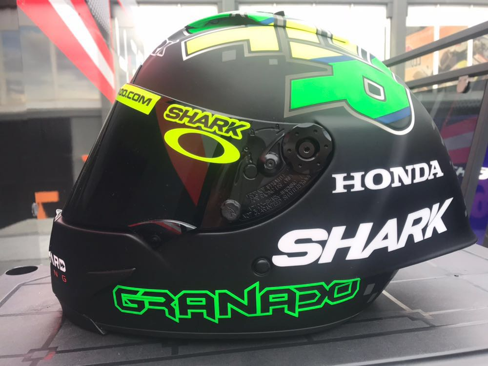 Capacete Shark Race-R Pro do Eric Granado Winter Test 2018
