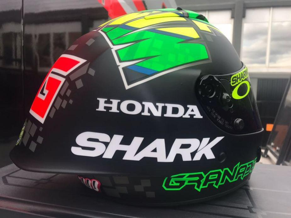 Capacete Shark Race-R Pro do Eric Granado Winter Test 2018 - 5