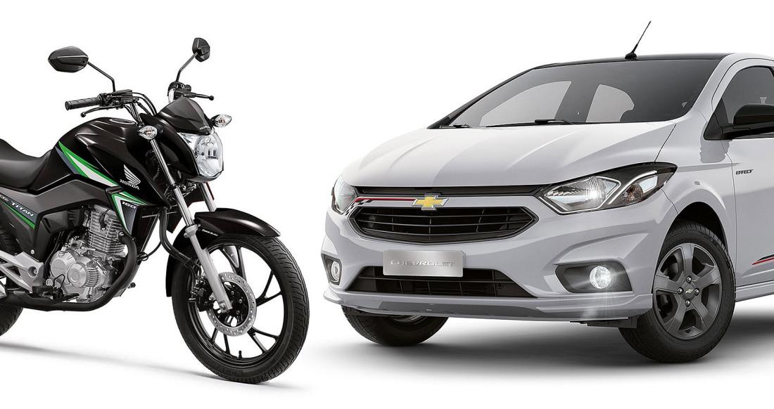 Carros e Motos mais vendidos janeiro 2018