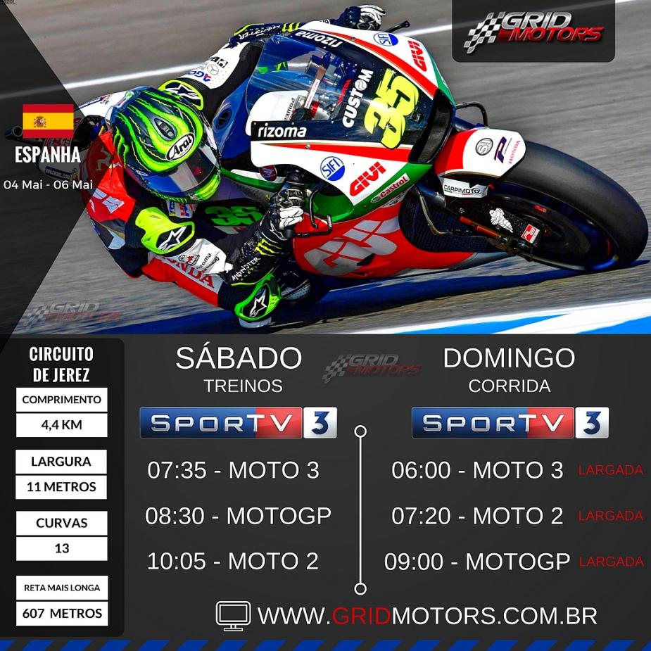 Horarios MotoGP 2018 - Espanha